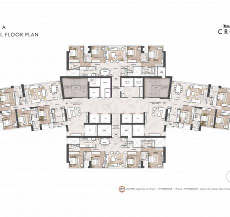 Tower A - Typical Floor Plan