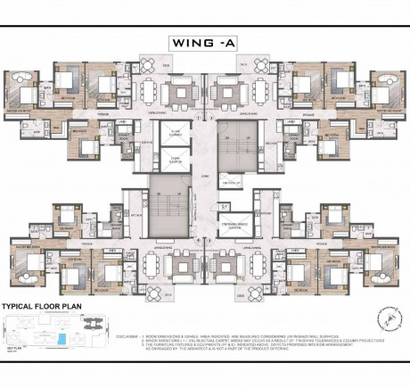 Wing A floor plan