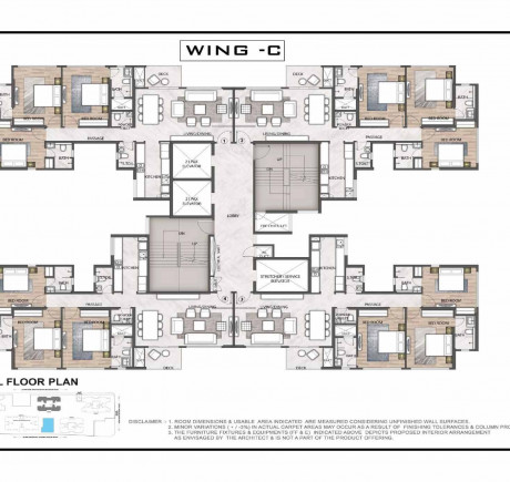 Wing C floor plan