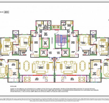 Wing B - Typical Floor Plan