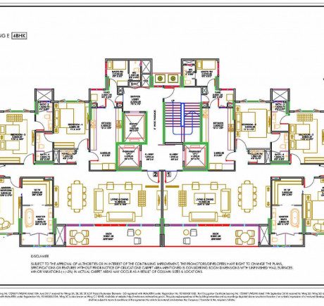 Wing E - Typical Floor Plan