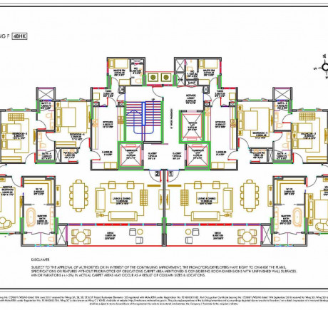 Wing F - Typical Floor Plan