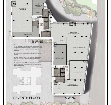Central Park 7th floor plan
