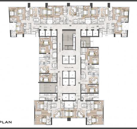 Tower C - Typical Floor plan
