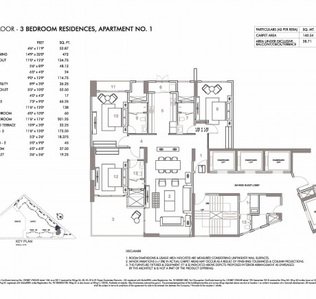 Wing C - Third Floor - Apt 1