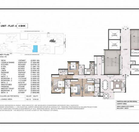 Wing A 4BHK Flat 4
