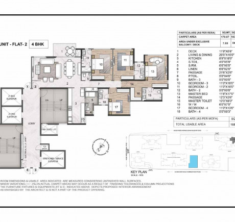 Wing A 4BHK Flat 2